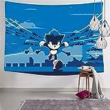 3354 So-nic - Tapiz para colgar en la pared, diseño divertido y suave, para decoración del hogar, 188 x 222,5 cm