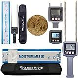 Hay Moisture Tester Meter Multfunctional Straws Moisture Meters Tester TK100 for Hay Straw Bran Fiber with Range 0-80% Percent