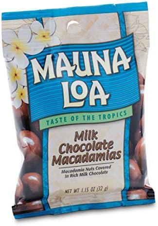 Mauna Loa Premium Hawaiian Roasted Macadamia Nuts Milk Chocolate Flavor 1 15 Oz Pouch Pack of product image