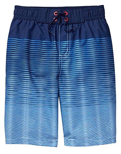 Crazy 8 Jungen Drawstring Swim Trunk Badehose, Blauer Farbverlauf, XS