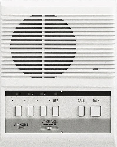 Aiphone LEM-3 Open Voice Selective Call Master Intercom, Accepts Up to Three Door or Sub-Master...