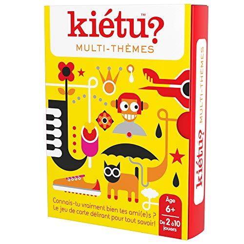 KIETU MULTI-THEMES (EDICIÓN FRANCESA) (Divertidísimo y familiar juego de conversación de cartas) (Descubre quién conoce mejor a quién)