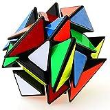 FAVNIC Cubo Mágico 3x3 Puzzle 3D Smooth Transformer Magic Puzzle Cube 3x3x3 Fluctuation Angle Puzzle Cube Rompecabezas Juguetes para niños (Negro)