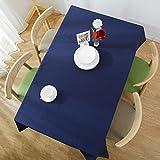YDyun Mantel Antimanchas de Algodón y Lino Mantel para Mesa Resistente al Aceite Lino de algodón y Lino de Color Puro Impermeable y hirviente