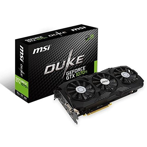 MSI Gaming GeForce GTX 1070 Ti 8GB GDRR5 256-bit HDCP Support DirectX 12 SLI TriFrozr Fan VR Ready Graphics Card (GTX 1070 TI Duke 8G) (Renewed)