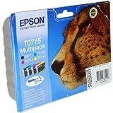 4 Epson Stylus DX7000F Original Printer Ink Cartridges - Cyan / Yellow / Magenta / Black