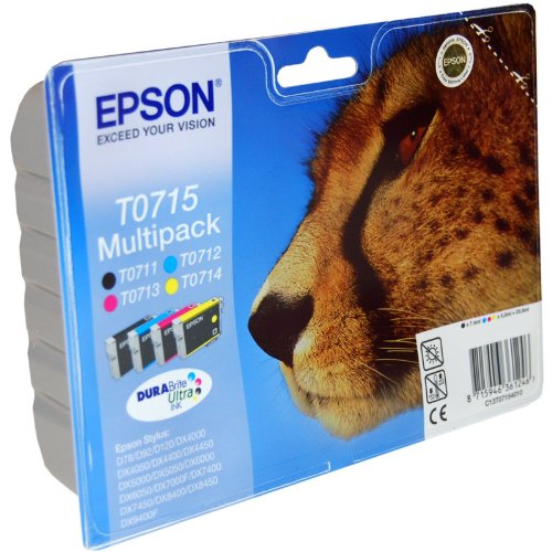 4 Epson Stylus DX5000 Original Printer Ink Cartridges - Cyan / Yellow / Magenta / Black