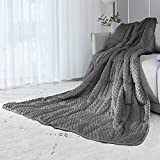 ALANSMA Reversible Weighted Blanket for All Season, Luxury Velvet, Warm and Cool, Adult Kids 7Lb Weighted Blanket, Enjoy Sleeping Anywhere(Grey,7Lb)