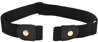 Cintura senza fibbia Cintura elastica in vita elasticizzata Cintura regolabile invisibile durevole unisex per donna Pantal...