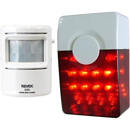 リーベックス(Revex) ワイヤレス チャイム Xシリーズ 送受信機セット 人感 センサー 防犯 LED ピカフラッシュ XL3050