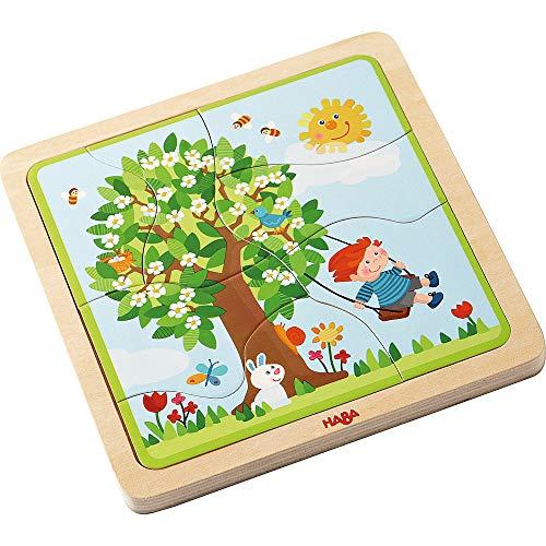 Haba 302529 houten puzzel voor lievelingsseizoen.