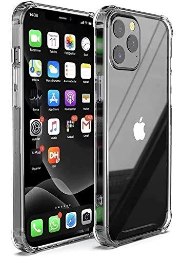 CITYFUNDAS Apple iPhone 12 Pro MAX Funda Transparente con Bordes Reforzados, Carcasa Protectora Anti Golpes con Refuerzo en Las Esquinas Compatible con iPhone 12 Pro MAX