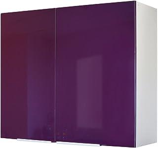 Berlenus CP8HA - Mueble Alto de Cocina (2 Puertas 80 cm) Color Berenjena Brillante