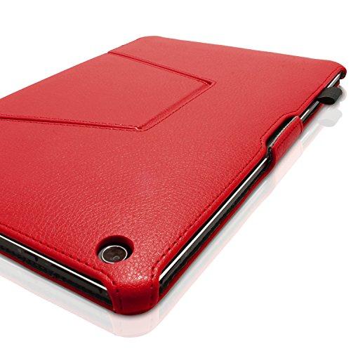 iGadgitz U3800 Folio Fundas para Tablets Folio Compatible con ASUS Transformer Book 10.1' T100 - Rojo