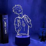 GEZHF 3D ilusión luz LED noche lámpara de mesa anime Haikyuu Tender Satori para niños dormitorio regalo de cumpleaños manga gadget tierno lámpara de mesa Haikyu aniversario regalos de vacaciones