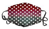 WuCong Facial Decorations Shield Comfortable Cotton Washable Reuseable Anti Dust Mask Sport Masks Protective (Ball Dot - B)