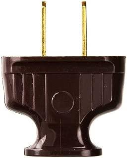 Brown - Antique Electrical Plug - EZ Grip - 15 Amp - 125 Volt - PLT D374