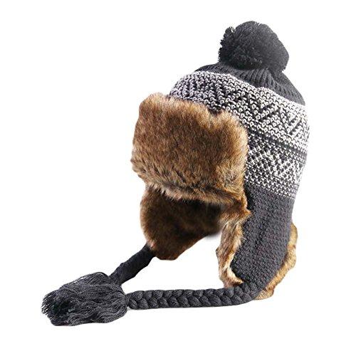 BLANCHO BEDDING Sombrero de esquí Suave Gorro de esquí Suave Sombrero de esquí Suave Gorro de Punto Grueso