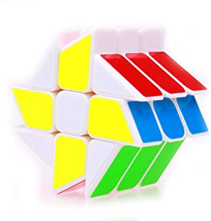 YongJun Windmill Speed Cube Puzzle Smooth Magic Cube YJ Cube Puzzle Toys for Kids 57mm White