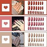 72pcs Fake Nails Acrylic Press on Nails Coffin...