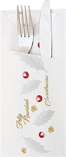 garcía de POU 188.37sac pour couverts CARTA avec New Noël 90G/m2, 33x 40cm, Blanc