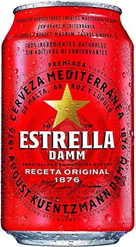 Estrella Damm - Cerveza Lata 33 cl