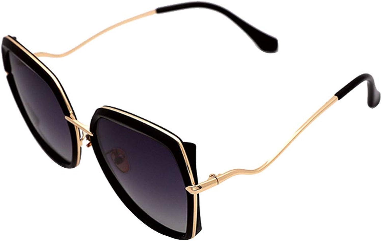 Cat Eye Polarized Sunglasses  Black Sun Glasses UV Predection Driving Shopping Outdoor Sports