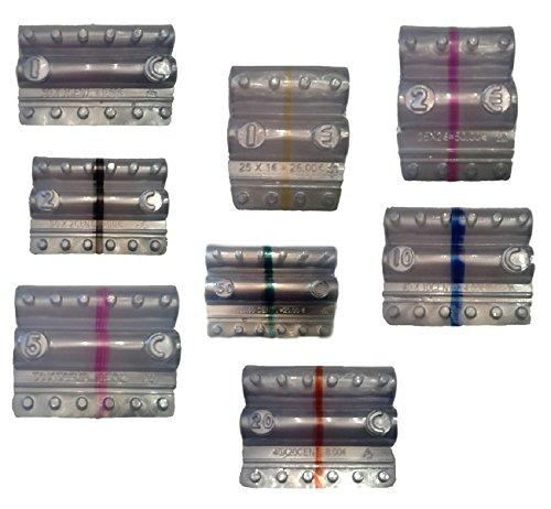 Blíster para monedas Euro - Kit 160 blísters portamonedas surtidos (20 unidades para corte europeo)