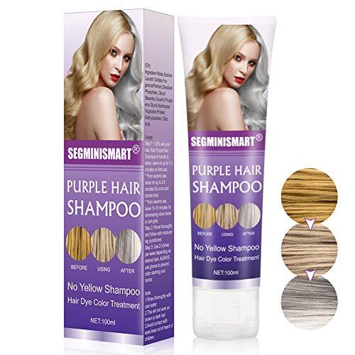 No Yellow Shampoo, Purple Shampoo, Anti Gelbstich Purple Shampoo Für Blonde, Blondierte, Gesträhnte und Graue Haar, Für die kühlsten Blondtöne, Anti Gelb Shampoo für Silber Blonde