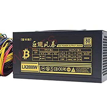 2000W PSU Power Supply for Computer 8 Video Card Mining Bitcoin Miner ATX PC 110V-220V ETH ETC ZEC ZCASH DGB XMR