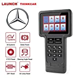 thinkcar ThinkScan Mercedes OBD2 Scanner All System Diagnostic Tool Professional Auto Scan Tool Multilingual Car Automotive Code Reader ECU Oil SAS DPF EPB ETS Reset for Benz, Lifetime Free Update