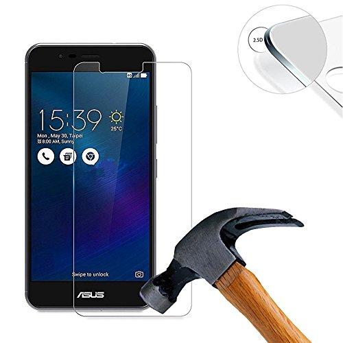Lusee® 2 x Pack Protezione Schermo Vetro temperato per ASUS Zenfone 3 Max ZC520TL 5.2 Pollice Pellicola Vetro Protettivo Salvaschermo e Film Protettiva Ultra-Duro Vetro 9H
