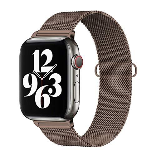 MOODER Correa de acero inoxidable compatible con Apple Watch Se/6/5 Band 44 mm 40 mm compatible con Iwatch Serie 4 3 2 1 pulsera Loop correa de reloj 38 mm 42 mm