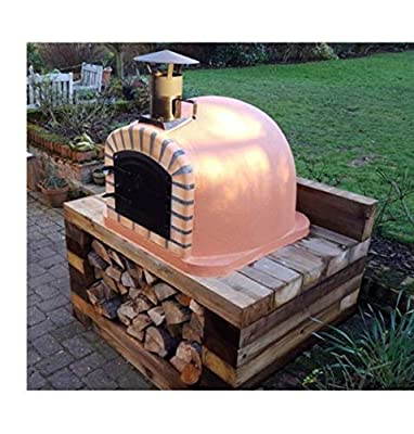Impexfire Lisboa Steel Door Wood-Fired Bread, Meat, Pizza Fish Outdoor Oven 90x90 cm Real Wood Real Flavor Escape The Indoors ™ Free Pizza Peel by IMPEXFIRE