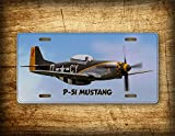 Fhdang Decor P-51 Mustang Flugzeug-Kennzeichen Pilot Aviation Fighter Jet Auto Tag Aircraft Propeller Airline Flight Warbird