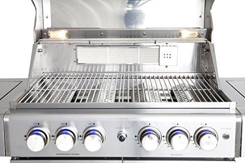 51WI7g+CJyL - Allgrill® Topline Volledelstahl Gasgrill Chef L 2019 mit Wetterschutzhülle und Grillspieß