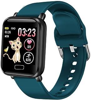 KYLN Relojes Inteligentes Deportes Impermeables para teléfonos iOS Android Smartwatch Monitor de Ritmo cardíaco Funciones de presión Arterial para Mujeres Hombres niños