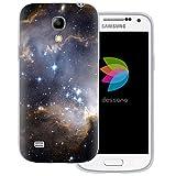 dessana Weltall - Custodia trasparente per Samsung Galaxy S4 Mini, motivo: galassia scura