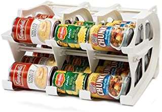 FIFO Mini Can Tracker Stores up to 30 Cans | Rotates First in First Out | Designed for Cupboard, Pantry and Cabinet Organization | Organize Your Kitchen | 4