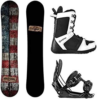 Camp Seven 2020 Drifter Snowboard Flow Bindings & APX Boots Men's Complete Snowboard Package