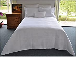 Natural Comfort Luxury Lines Microfiber Quilt Coverlet, White, Full BP85WH-F