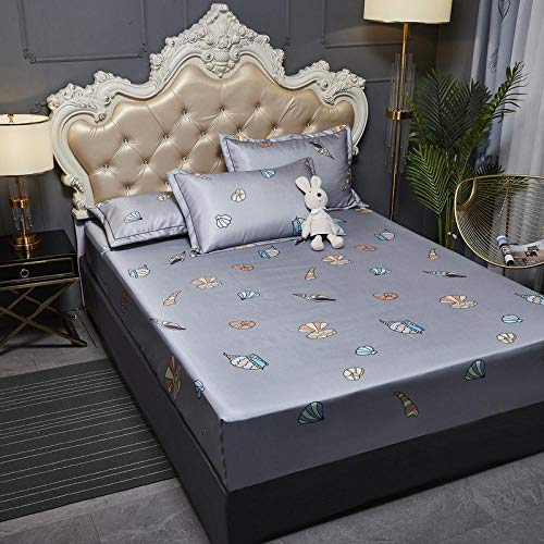JRDTYS Super Soft Warm and Cosy Fitted Bed SheetThe bed cover is machine washable and non-slip-03_135cmx200cm+30cm