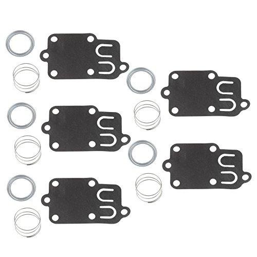 Buckbock 5PCS Carburetor Diaphragm Gasket kit for 2hp Thru 5hp Engines BS 270026 272538 272538S 272637 4157 4168 5021 5021K 690766 221377 Spring Cap