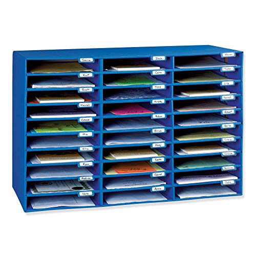 Pacon PAC001318 Classroom Keepers 30-Slot Mailbox  Blue
