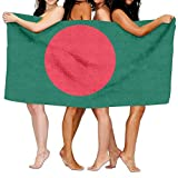 Tcerlcir Strandtuch Badetuch Saunatuch Duschtuch Ultra Leicht Handtuch Schnelltrocknend Saugfähiges Sporthandtuch Flagge von Bangladesch 130X80cm