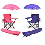 Redmon for Kids Beach Baby Kids Umbrella Camp Chair (Combo of Hot Pink and Purple)