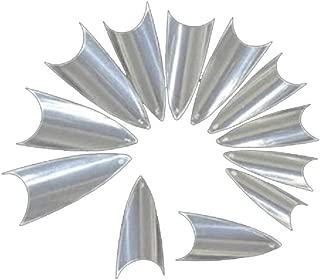 NEJLSD Nail False Nail Tips Clear Sharp Ending Stiletto Glitter Color False Nail Tips Acrylic Nail