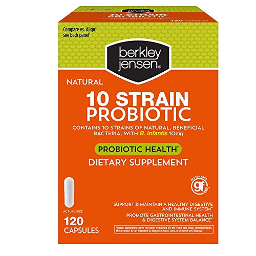 Berkley Jensen Natural 10-Strain Probiotic Dietary Supplement, 120 ct.