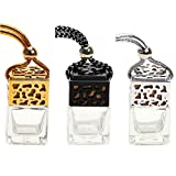 3 Pack Air Freshner Car Hanging Perfume Bottle Refillable Fragrance Diffuser Empty Glass