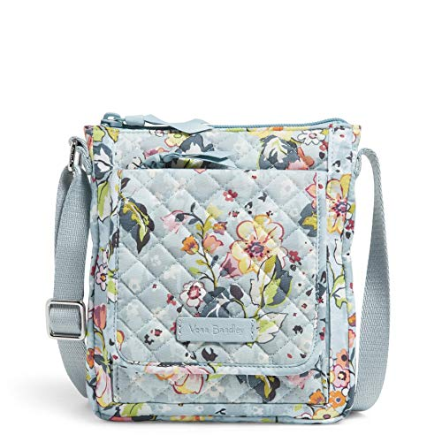 Vera Bradley Signature Cotton Mini Hipster Crossbody Purse with RFID Protection, Floating Garden